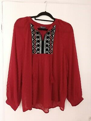 £4 • Buy LADIES M&S KAFTAN TOP SIZE 14 Floaty Summer Cover Up Kimono Blouse Sheer Vgc