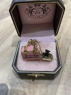 £28 • Buy Juciy Couture Charm. Dog In Dog Basket. Unusual Rare Collectible For Bracelet