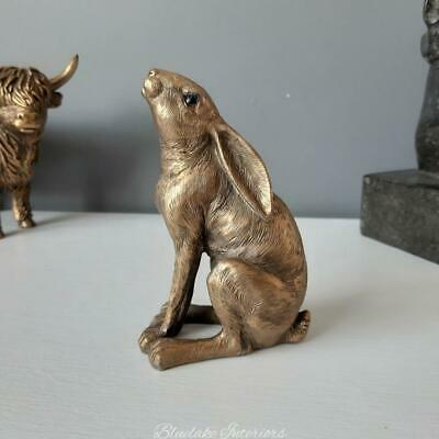 £8.75 • Buy Reflections Bronze Moon Gazing Hare Ornament Gift Boxed Figurine Small