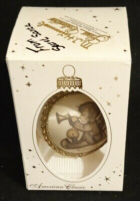 $7.99 • Buy M.J. Hummel American Classic Round Glass Ornament H435 Angel With Horn Free Ship