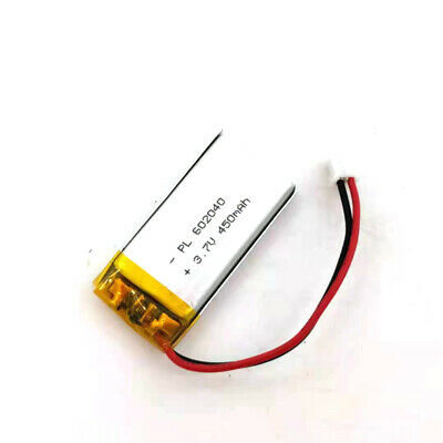 £6.44 • Buy 3.7V 450mAh 602040 Li Lipo Lithium Polymer Ion Battery Pack With 2 Pin 2.0mm JST