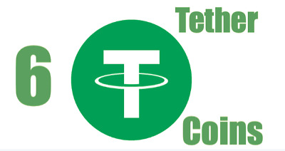$10.99 • Buy 6 Tether Coins (USDT) Mining Contract Get 6 Crypto Coins Fast Shipping