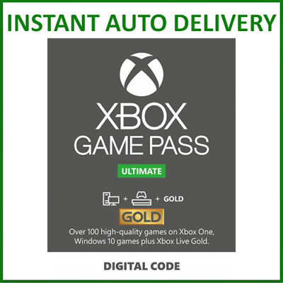 $ CDN6.18 • Buy Xbox Live Gold & Game Pass Ultimate Membership 1, 2, 3, 6, 12 Month, 14 Days
