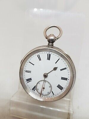 £80 • Buy Antique Solid Silver Gents Chester Pocket Watch 1896 Working Ref1650