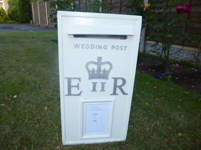 £45 • Buy Wedding Post Box For Sale Classic Cream Silver Letters, Size 24 X 26 X 50 Cms H
