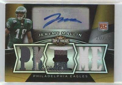 $29.28 • Buy 2009 Topps Triple Threads Prime Relics /20 Jeremy Maclin #114 Rookie Auto