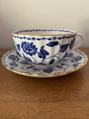 £15.87 • Buy Vintage Spode Blue Colonel Cup And Saucer, Blue, White, Gold Trim