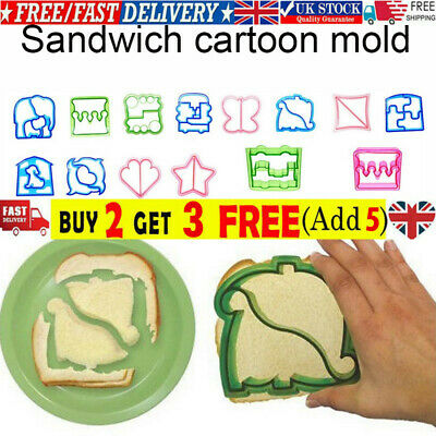 £3.49 • Buy Kids DIY Lunch Sandwich Toast Mould Cookies Mold Cake Bread Food Cutter Tools