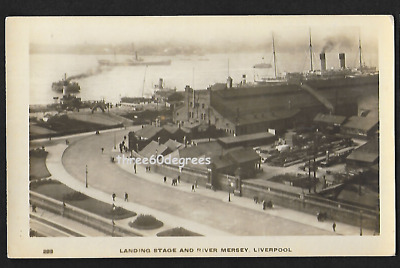 £7.50 • Buy Early Lancs RP Postcard: Landing Stage & River Mersey, Liverpool. Steam Ships
