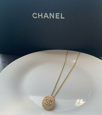 £72.87 • Buy Chanel Necklace (reworked Vintage Button)