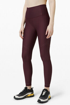 """$ CDN85.01 • Buy Lululemon Zoned In Tight 27"""" Reflective Details Cassis  Size 12"""
