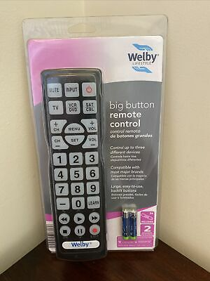 £14.13 • Buy New Welby LifeStyle Big Button Remote