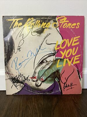 £212.36 • Buy Rolling Stones Signed LP Love You Live By 5 Musicians