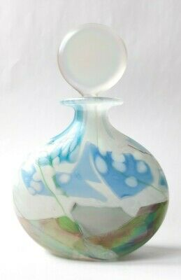 £30 • Buy Isle Of Wight Glass Perfume Scent Bottle Large 13cm Lustre Larkspur