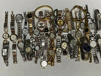 $ CDN85.01 • Buy Watch Lot~35 Name Brand Lady Watches~Seiko~Fossil~Guess~Relic~Citizen~All Metal