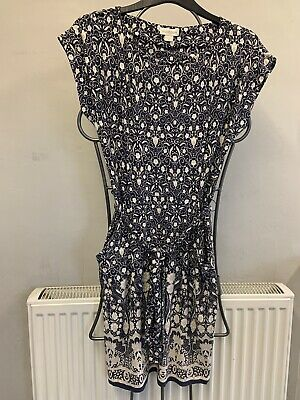 £3 • Buy Blue Beige Monsoon Summer Dress Size 8 Lovely Condition