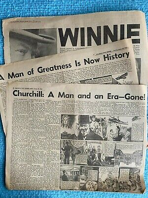 £7.15 • Buy Death Of Winston Churchill Long Branch Daily Record Newspaper Jan 25, 1965