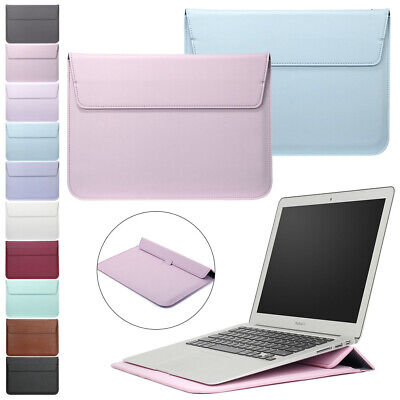 $14.29 • Buy Leather Laptop Sleeve Bag Pouch Case Cover For MacBook Air 11 13 Pro 15 Retina