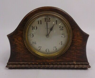 £10.60 • Buy Antique/Vintage Wooden 8 Day Wind Up Mantel French Made Clock SFRA Not Tested