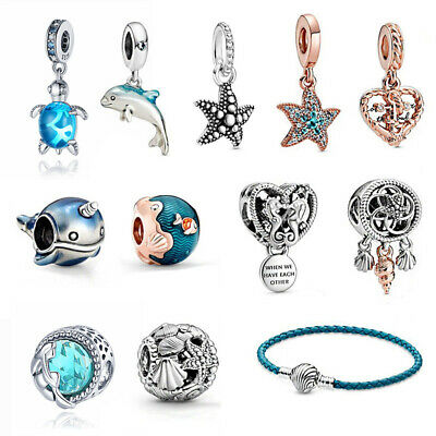 AU14.99 • Buy Seashell Starfish Narwhal Summer 925 Sterling Silver Charm Without Pandora Pouch