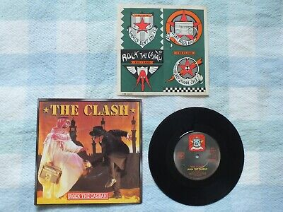 """£2.50 • Buy The Clash - Rock The Casbah 7"""" Vinyl In Picture Cover Set Of Stickers Intact"""