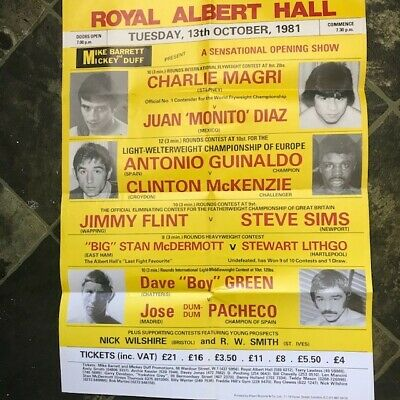 £15.99 • Buy Boxing Poster  Charlie Magri Original 1981 17 X 24  Approx Excellent Condition