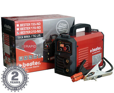 £239 • Buy Arc Welder Lincoln Bester 210-ND Inverter Package With Two Year Warranty - 230v