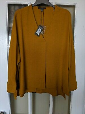 £2.50 • Buy New!! Primark Mustard Relaxed Lightweight Long Sleeve Top Size 14