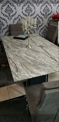 £750 • Buy Marble Dining Table And 6 Chairs Used