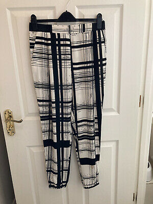 £4.99 • Buy RIVER ISLAND Cuffed TROUSERS CHECKED ELASTICATED WAIST SIZE 12R