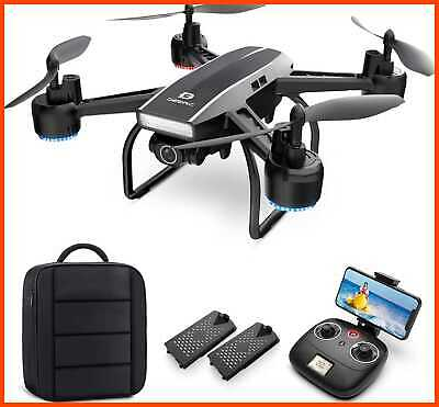 AU203.09 • Buy DEERC Drone W Camera For Adults 2K Ultra HD FPV Live Video 120° Wide Angle Altit