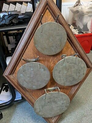 £115 • Buy Unusual Rare Antique Edwardian Brass & Wood Dinner Gong Or Musical Instrument