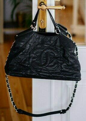 AU2852.88 • Buy VERIFIED Authentic CHANEL Black Quilted Iridescent Calfskin Leather Tote Bag