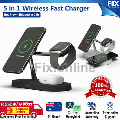 AU44.49 • Buy Magnetic Charger Fast Charging Dock Stand For Airpods Apple Watch IPhone 12serie