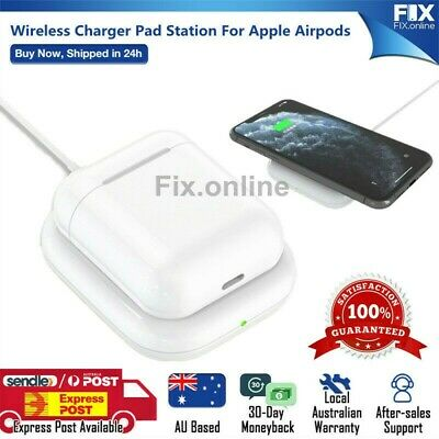 AU9.99 • Buy Fast Qi Wireless Charger Charging Pad Station Dock For Apple Airpods 2/ Pro