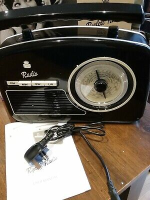 £24.99 • Buy Gpo Rydell Retro Portable 4 Band Fm/mw/sw/lw Radio With Retro Face In Black