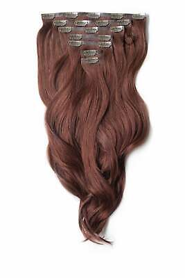 $209.63 • Buy Foxy Locks Human Remy Clip In Hair Extensions - Elegant Full Head - 20+ Colours