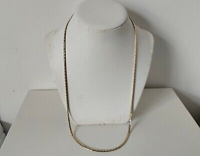 £9.99 • Buy Vintage 1980s Goldtone Gold Plated Long Flat Snake Chain Necklace