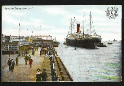 £3.50 • Buy Early Lancashire Postcard: Landing Stage, Liverpool. Steam Ship. PM 1905