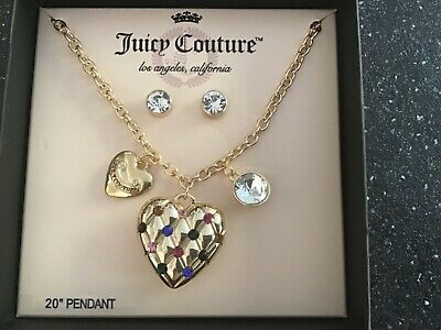 £11 • Buy Brand New Juicy Couture Necklace With Matching Earrings, Gold Colour