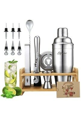 £7.20 • Buy 14-Piece Stainless Steel Cocktail Shaker Set Cocktail Drink Mixing Bartender Kit