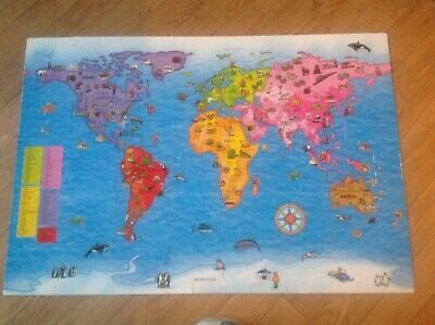 £4.99 • Buy Orchard Toys World Map 150 Piece Puzzle And Poster Educational Age 5-10