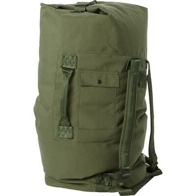 $21.99 • Buy Military Duffle Bag, OD Green Nylon Sea Bag, Carry Straps, Army Scouts Hiking