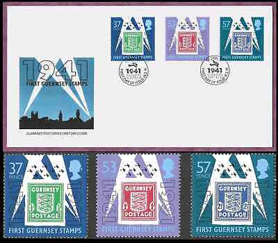 £4.80 • Buy Guernsey 1991 Occupation Stamps Set Of 3 + Fdc