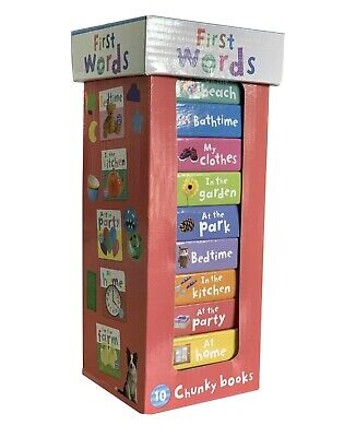 £7.26 • Buy Early Learning My First Words 10 Chunky Books Tower - GIFT