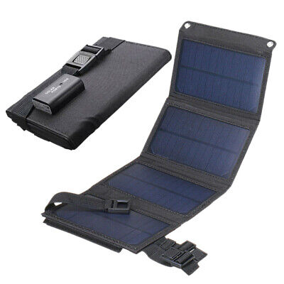 £15.79 • Buy 20W Portable Solar Panel Folding Power Charger USB Camping Travel Phone Charge L