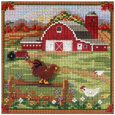$12.99 • Buy Mill Hill 2013 Autumn Series Buttons & Beads Cross Stitch Kit ~Country Morning ~
