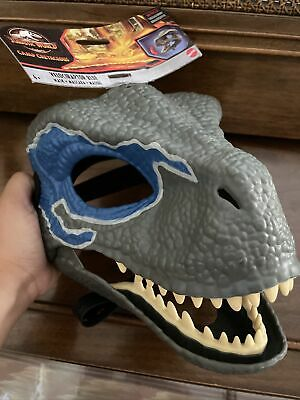 $38 • Buy Jurassic World Velociraptor BLUE Dinosaur Dino Mask Camp Cretaceous NEW With Tag
