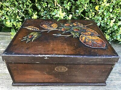 £12.12 • Buy Vintage HALL'S 'STATE'TOFFEE Tin Writing Box Advertising Old Chief Toffee Case✨