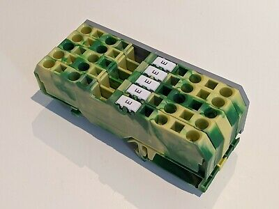 £8 • Buy 5 X WAGO 281-657 4-way Terminals For 4mm2 Cable, Ground, For 35mm DIN Rail